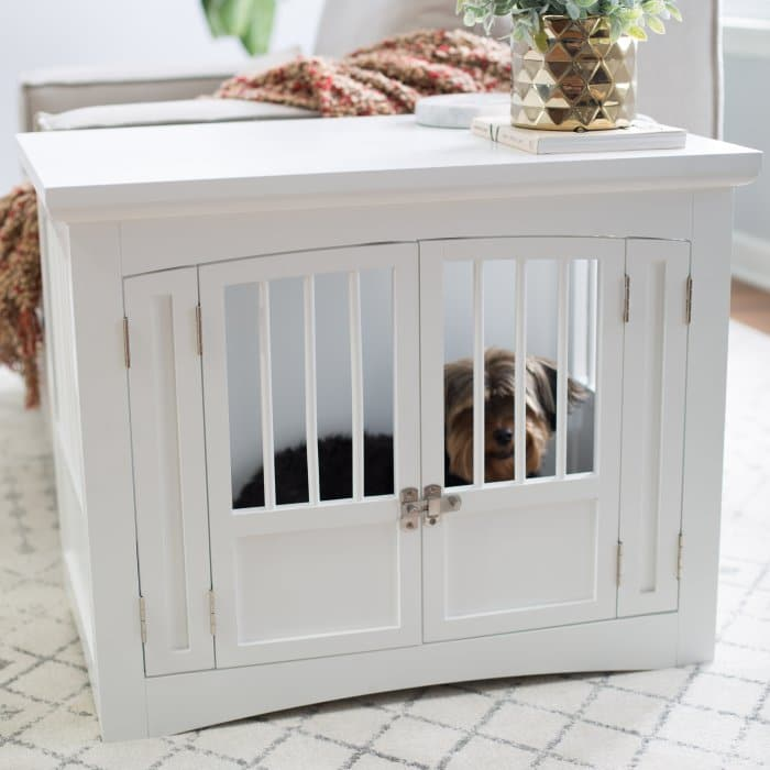 Pet Store Double Door Dog Crate, End Table Best Dog House
