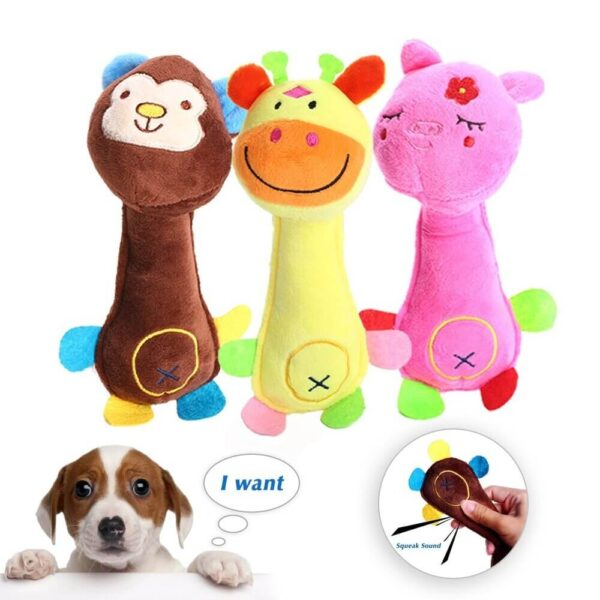 Buy Cute Squeaky Monkey Deer Pig Plush Dog Toy in Kenya