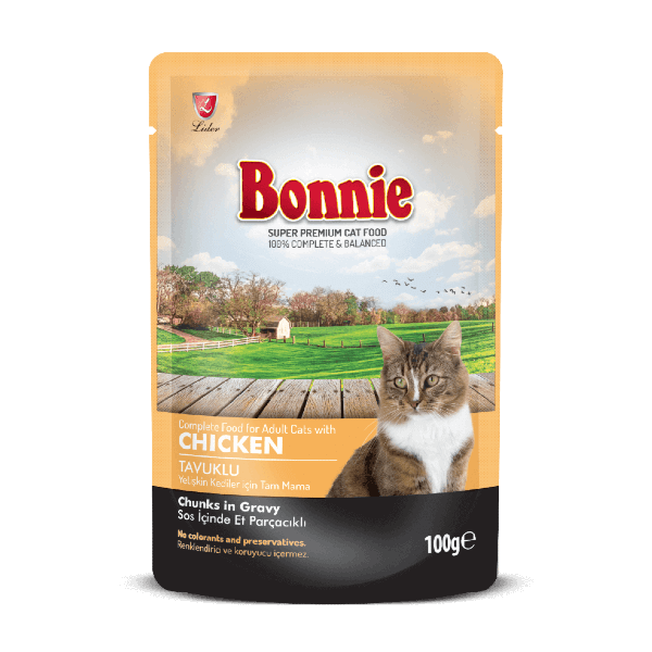 Buy Bonnie Chicken Chunks In Gravy Adult Cat Food in Kenya at Pet Shop in Nairobi