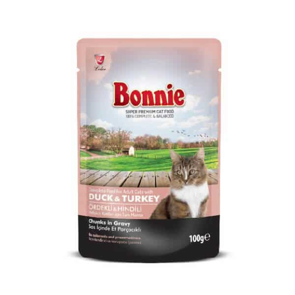 Buy Bonnie Duck And Turkey Chunks In Gravy Adult Cat Food in Kenya Online Pet Shop Glovo