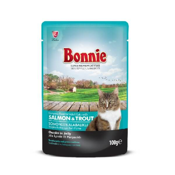 Buy Bonnie Salmon And Trout Chunks In Jelly Adult Cat Food Wet in Nairobi Kenya Pet Store