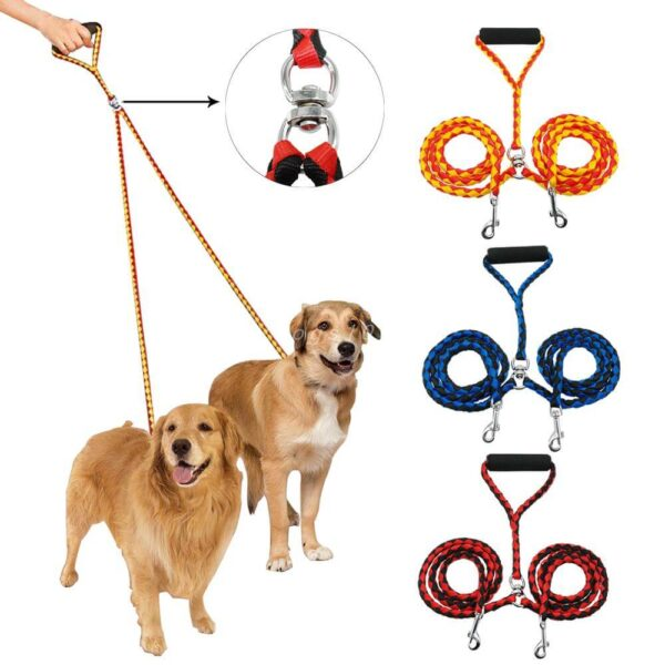 Best Twisted Dual No-Tangle Double Dog Leash in Kenya Petsasa Pet House