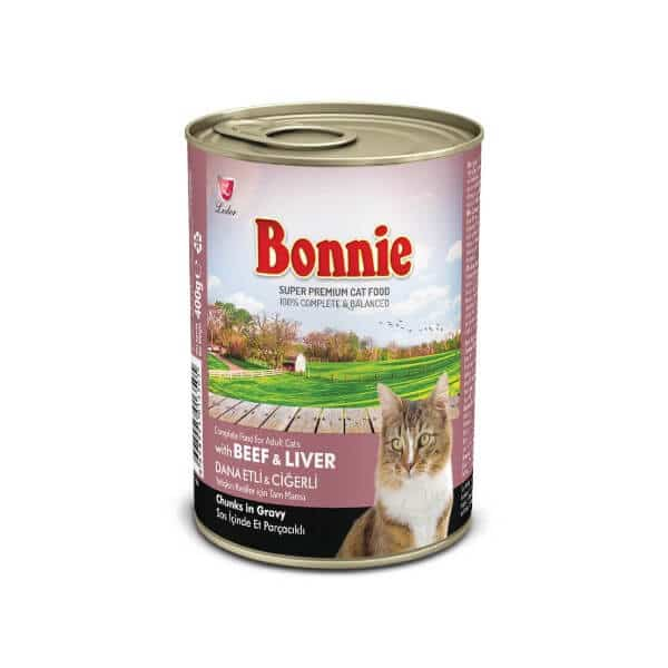 Buy Bonnie Beef Chunks In Gravy Canned Cat Food Online in Kenya on Petsasa Pet Shop Karen