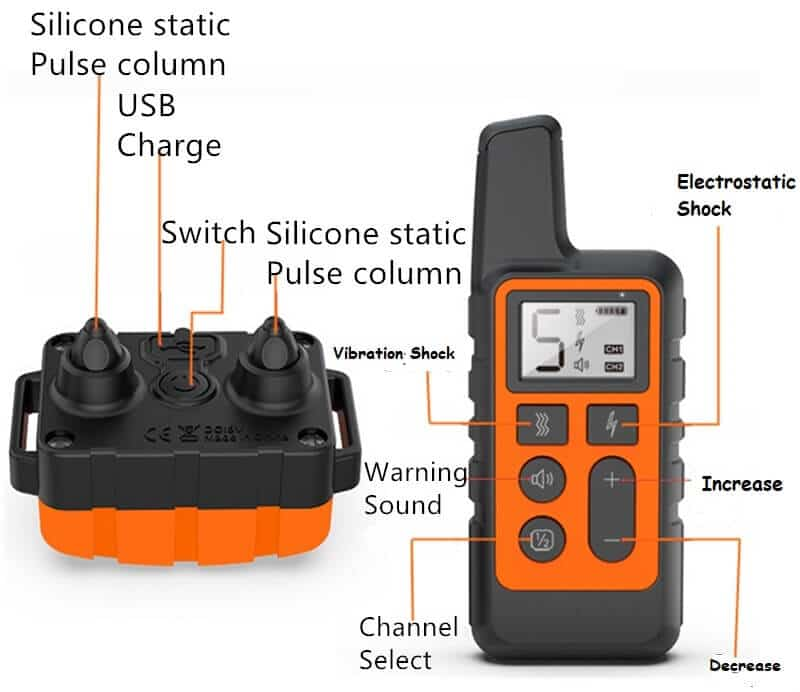500M Remote Dog Training Collar, Waterproof, Rechargeable