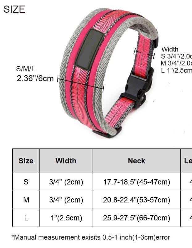Small Medium Large Petsasa Padded Sports Dog Collar, Adjustable, Back Clip
