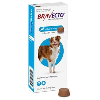 Bravecto For Large Dog 20 To 40kg, Flea & Tick Soft Chew Tablets in Nairobi at Petsasa Kenya