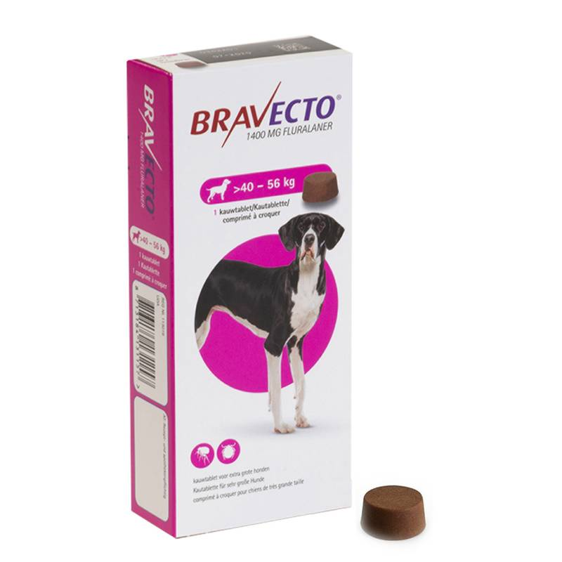 Bravecto for Extra Large Dogs 40 To 56kg, Flea & Tick Soft Chew Tablets