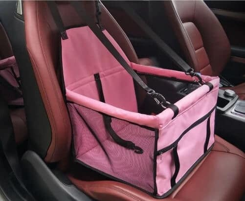 Pink Pet Car Booster Seat Travel Carrier Cage, Oxford Breathable Folding Soft Washable Travel Bags for Dogs Cats or Other Small Pet Nairobi Kenya